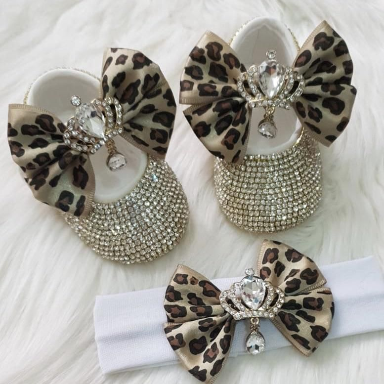 b4dc58b7a1315 Christening Bling White bow Sequins Handmade Chain crystal baby ...