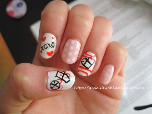 EXO nail art ?? ???? #nailart #korean #nail #art #koreannailart