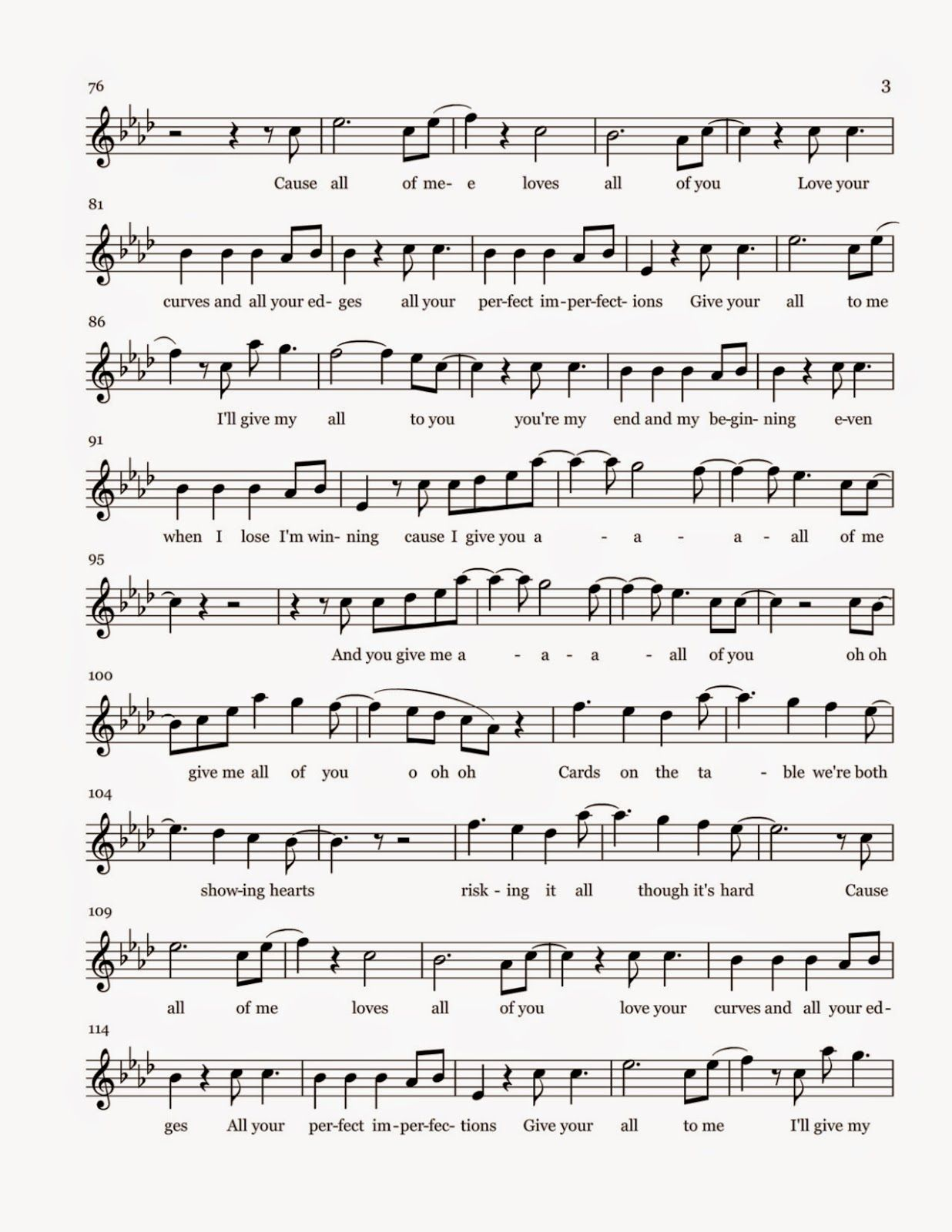 All Of Me Sheet Music With Images Flute Sheet Music