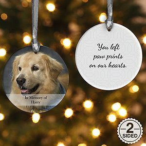 personalized pet christmas ornament 2 sided pet photo memories ornament gifts