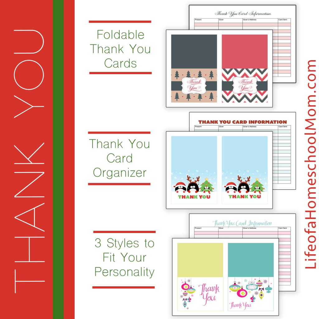 Free Printable Christmas Thank You Cards  Printable Christmas
