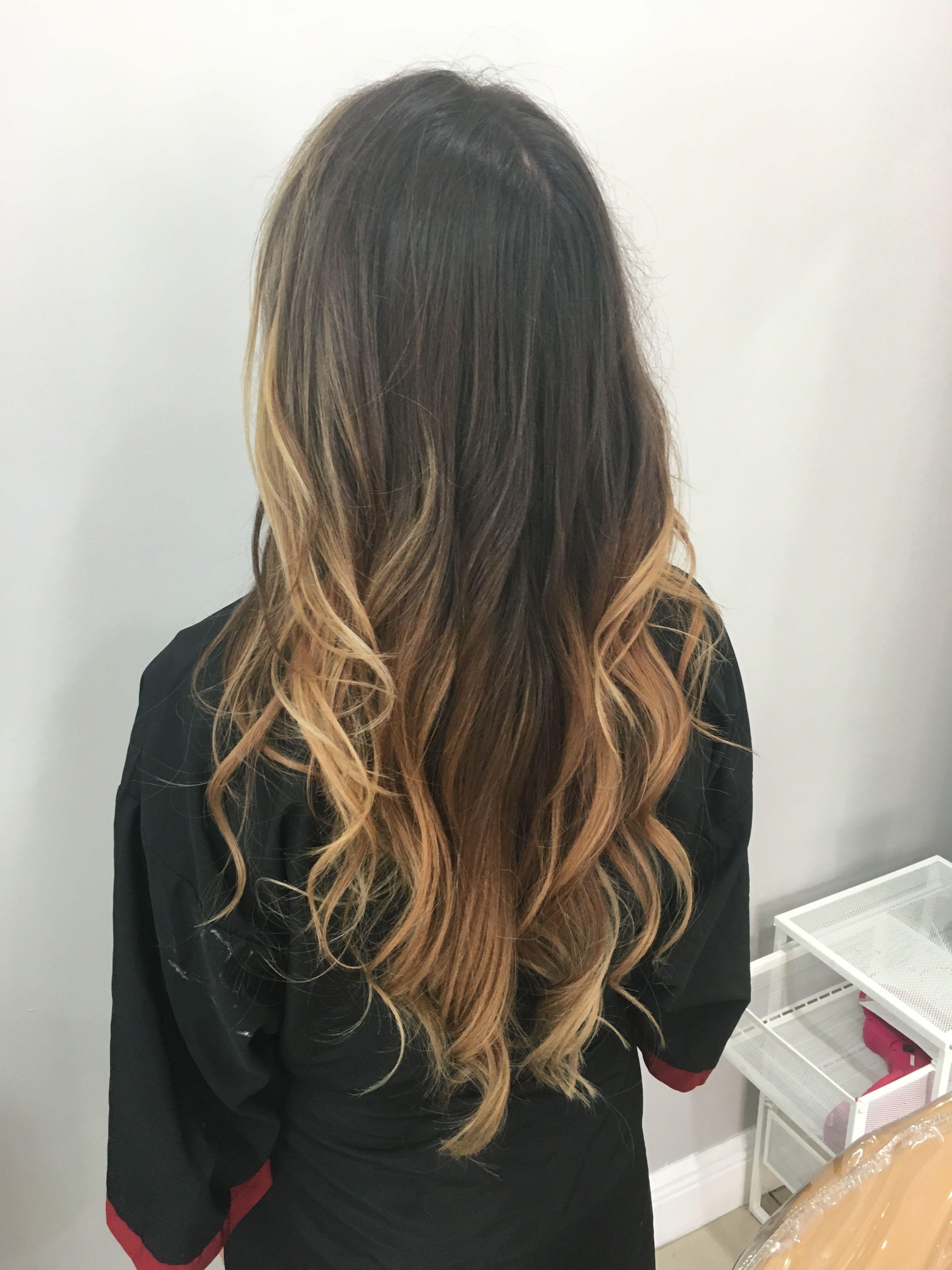 balayage latina hair ombr