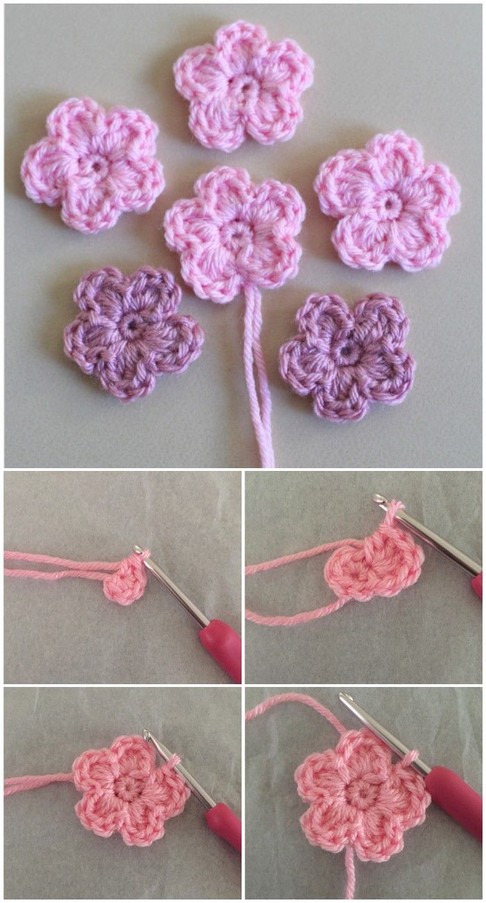 Free Crochet Flower Patterns To Make Your World Beautiful #crochetflowers