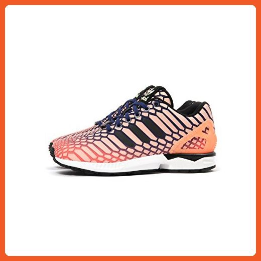 adidas donne zx flusso (orange / sole raggiante / lussureggianti inchiostro / bianco) 46