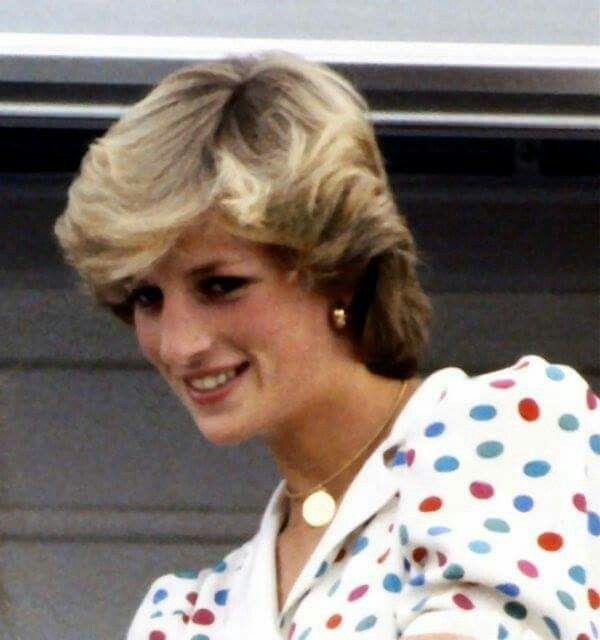 Princesa Diana De Gales Cabelo Com Franja Franja Cabelo