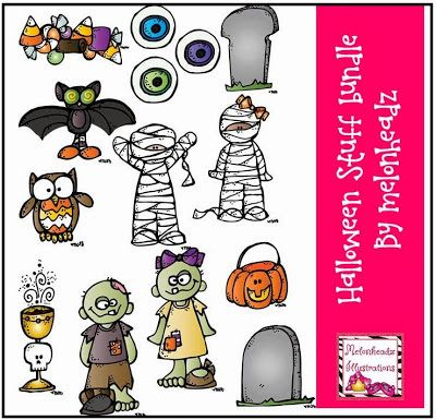 Melonheadz Illustrating Halloween stuff bundle new today ...