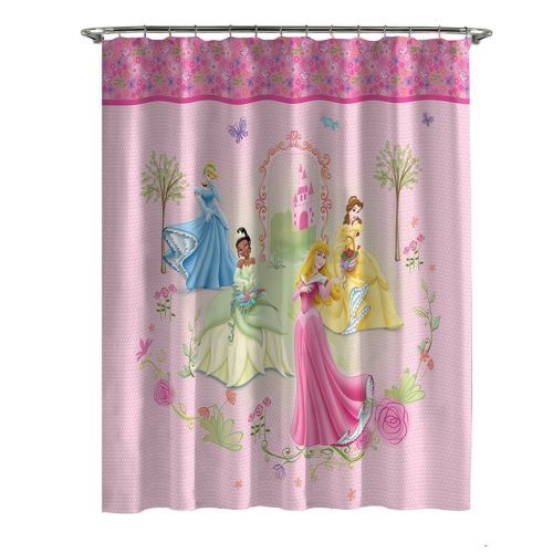 Disney Princess Microfiber Shower Curtain Princesses Girls
