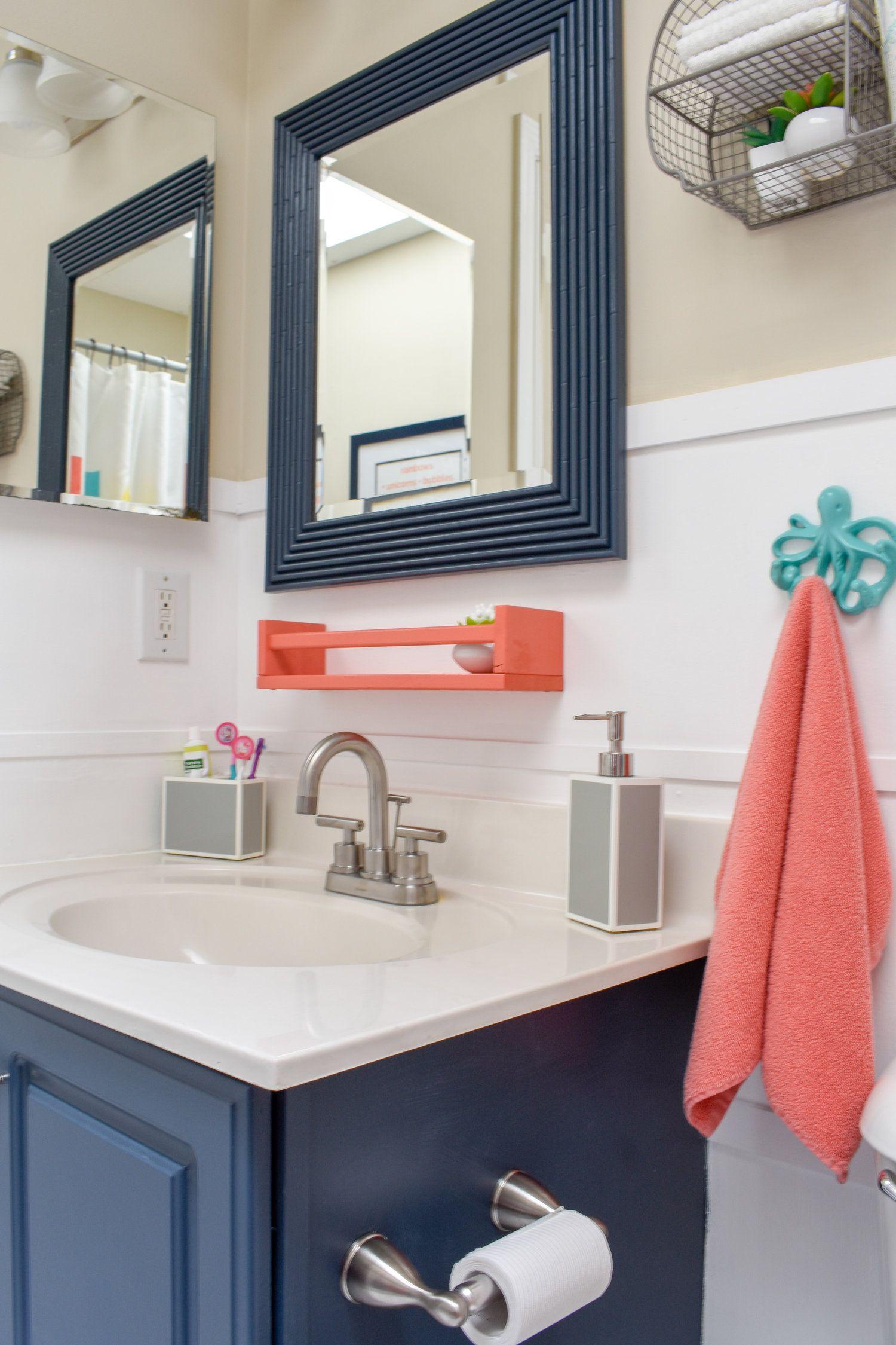 Photo of One Day Makeover: Inszenierung eines Kinderbadezimmers zum Verkauf in nur 8 Stunden für unter 200 US-Dollar! – T. MOORE HOME | Design, DIY und erschwingliche Dekorationsideen
