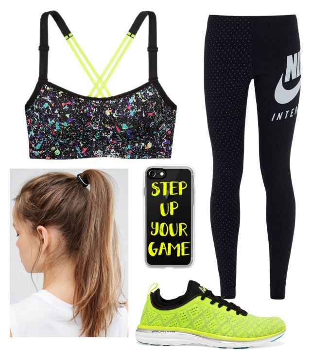 """""""Training with style"""" by emily-mcbride246 on Polyvore featuring Victoria's Secret, NIKE, Athletic Propulsion Labs and Casetify"""