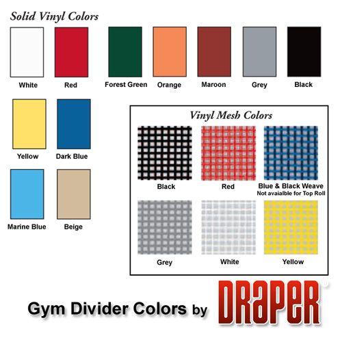 Roll Up Gym Divider Curtains Draper Inc Vinyl Colors