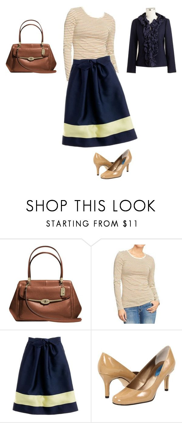 """thinking spring thoughts, part 1"" by gurianovaiorquina ❤ liked on Polyvore featuring Coach, Old Navy, J.Crew and Fitzwell"