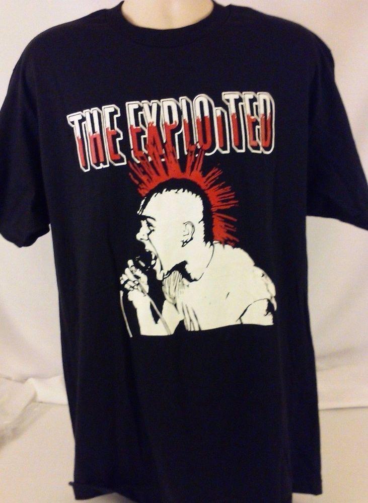 The EXPLOITED Skull OLD School UK STREET Wattie Punk T-Shirt Large A0059 #TheExploited #BasicTee