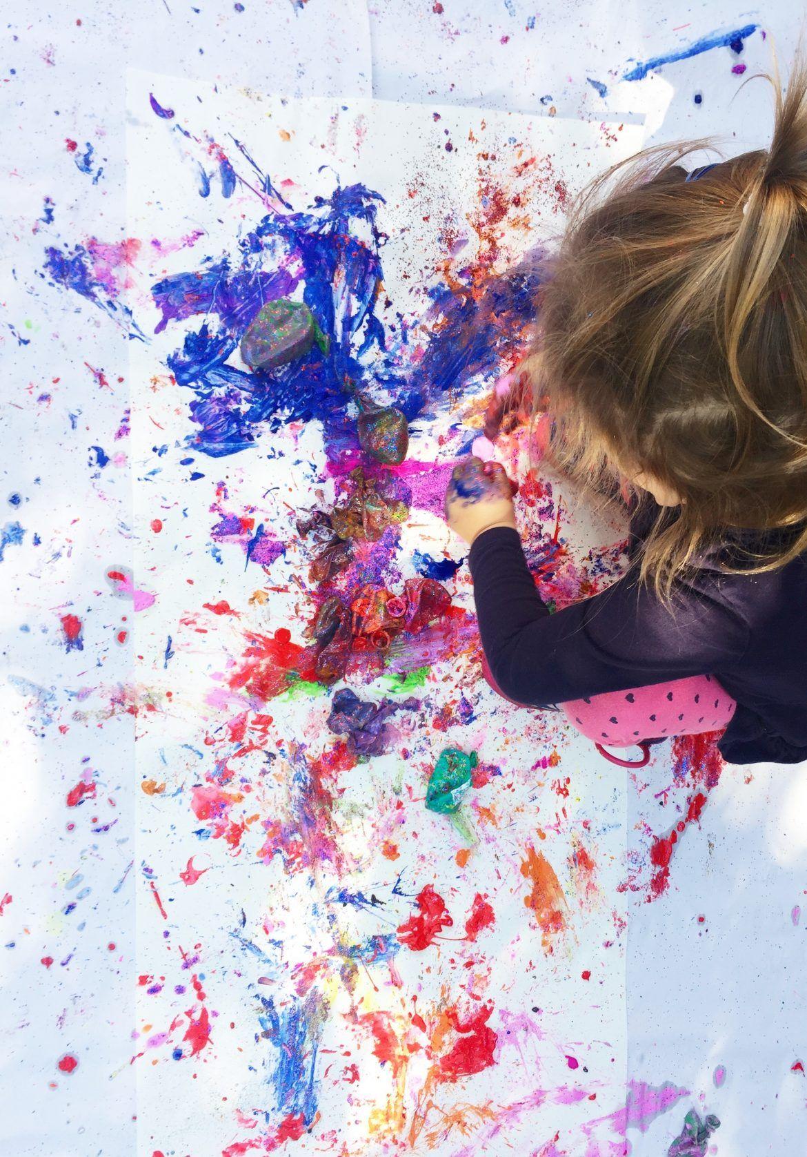 Popping Paint Balloons Alice Amelia Balloon Painting Balloons Splatter Art