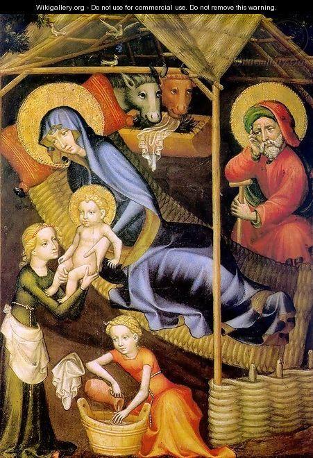 The Nativity c. 1400 - Austrian Unknown Master