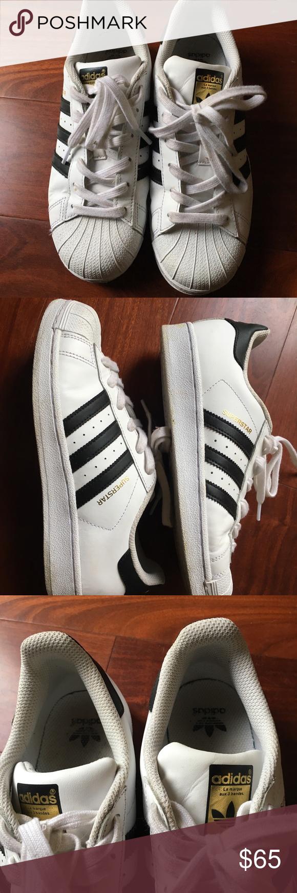 adidas scarpe da ginnastica indossato solo una manciata di nuovo, alcuni marchi
