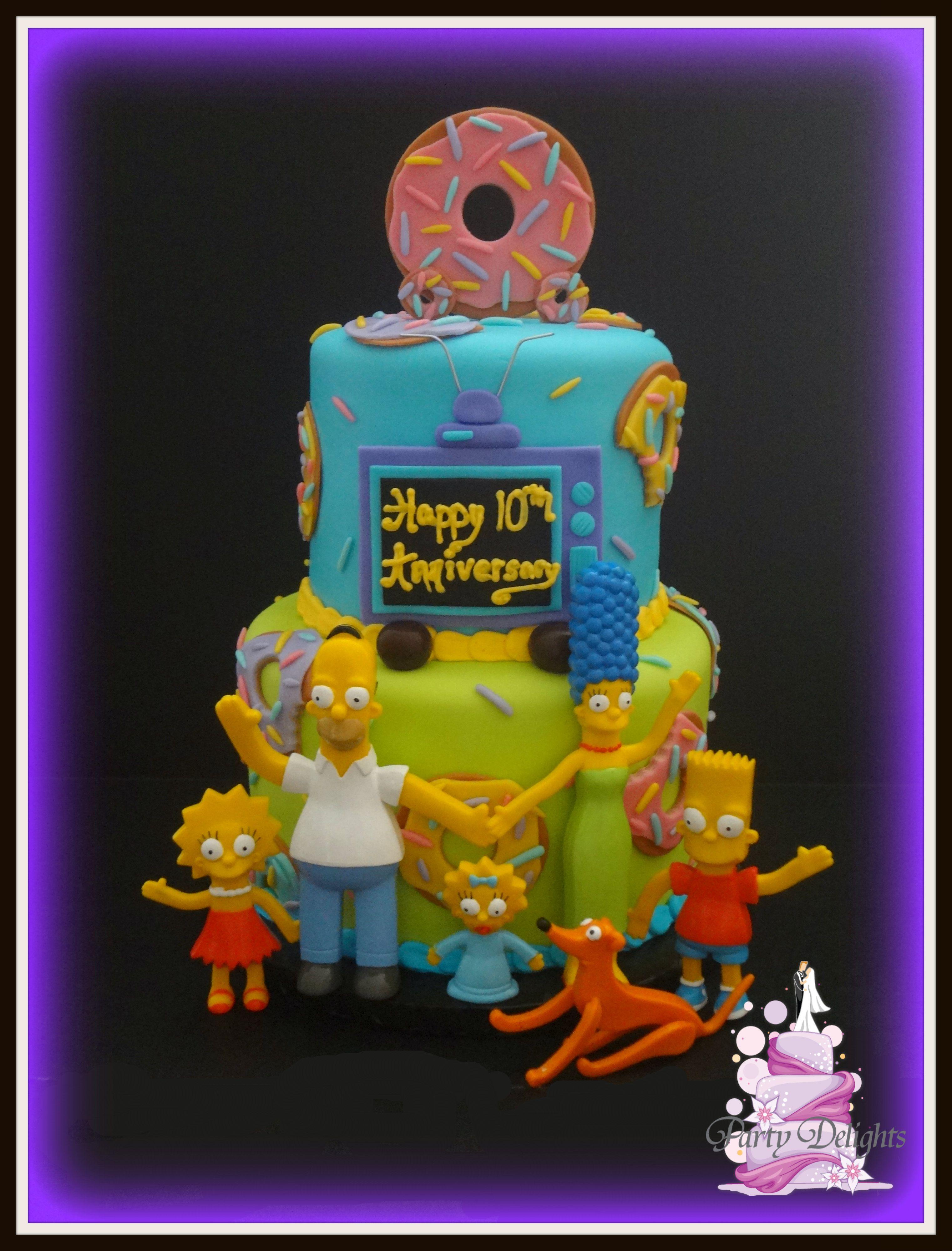 Simpsons cake g teaux g teau de r ve anniversaire garcon et anniversaire - Anniversaire simpson ...