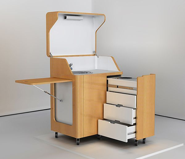 SoBuy® Servierwagen, Küchenwagen, Rollwagen m Schublade aus Holz - küchenwagen mit schubladen