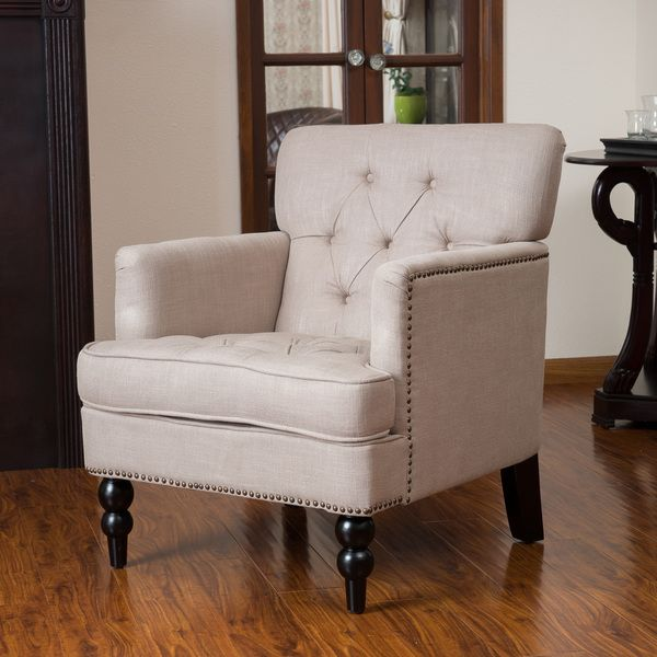 Chairs For Living Room Clearance: Christopher Knight Home Malone Beige Club Chair