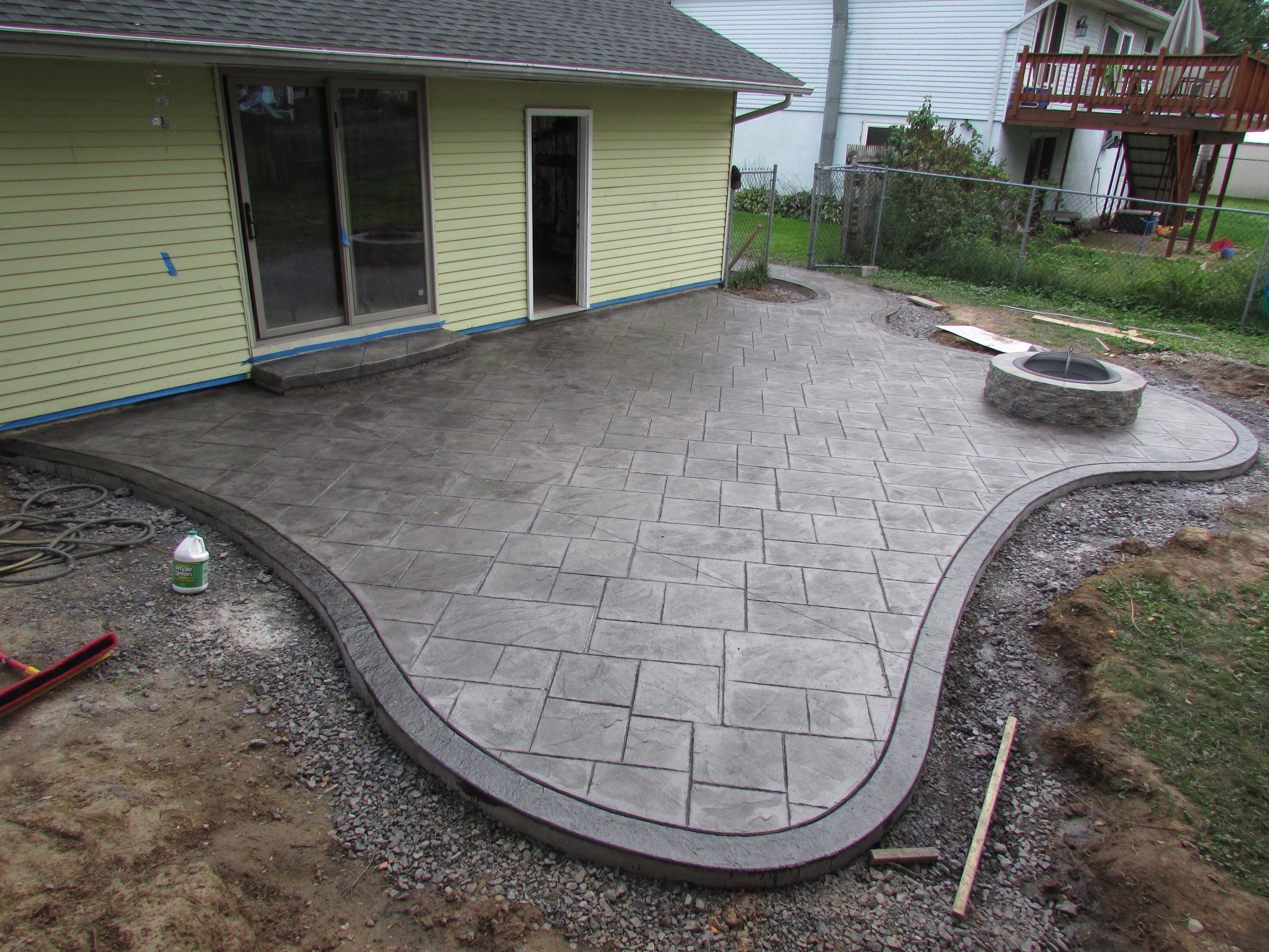 Exterior Design Using Amazing Stamped Concrete Patio For Patio