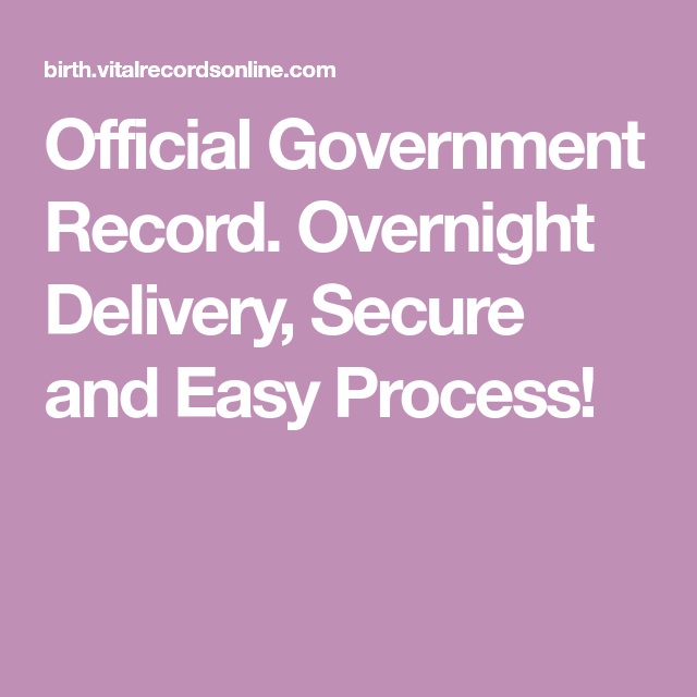 Official Government Record Overnight Delivery Secure And Easy