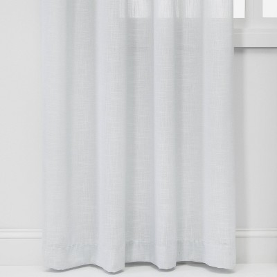 24 X54 Feather Sheer Window Curtain Panel With Contrast Edge