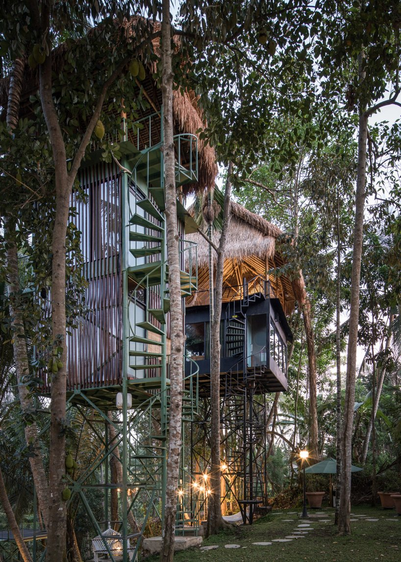Treehouse Hotel In Bali By Alexis Dornier Mixes Tropical And Industrial Styles In 2020 Treehouse Hotel Tree House Watercolor Architecture