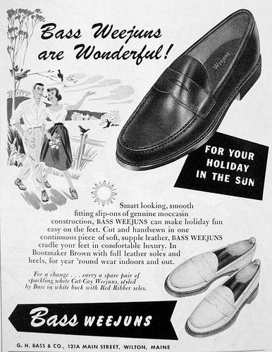 3e73c45f5f2 1951 Weejuns Advertisement