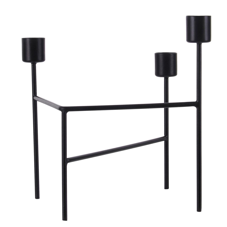 Three kynttelikkö, musta ryhmässä Sisustustavarat / Koristeet / Kynttilänjalat & Lyhdyt @ ROOM21.fi (133049)