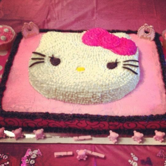 Hello Kitty Baby Shower Cake I Made This For My Daughter In Law
