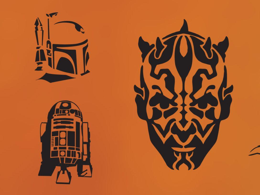 Wa walking dead pumpkin stencil - Star Wars Pumpkins Starwars Com