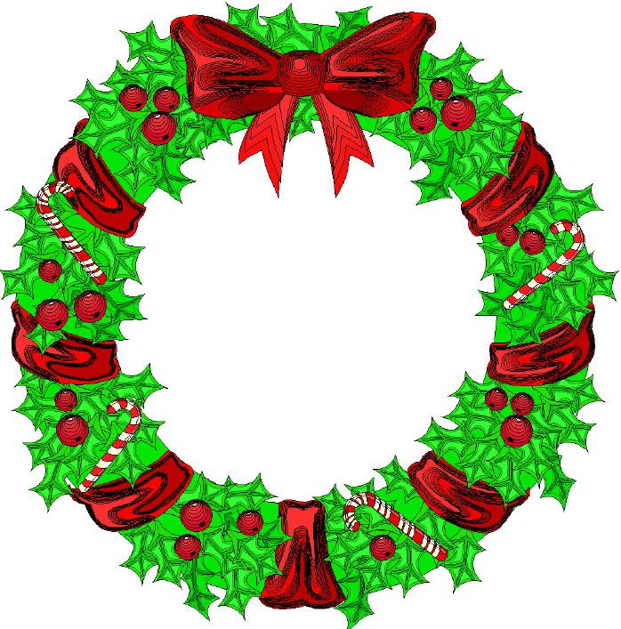 Cartoon Christmas Wreath Pics Words Png Christmas Wreaths