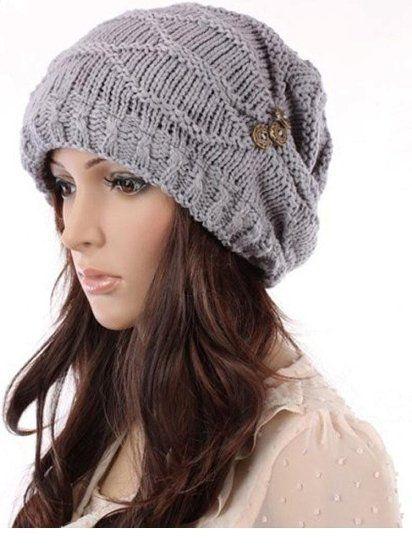 Amazon.com  SZ New Fashion Women Hat Cap Warm Winter Ski Braided Baggy  Beanie Knit Crochet Hats  Clothing de82443bad47