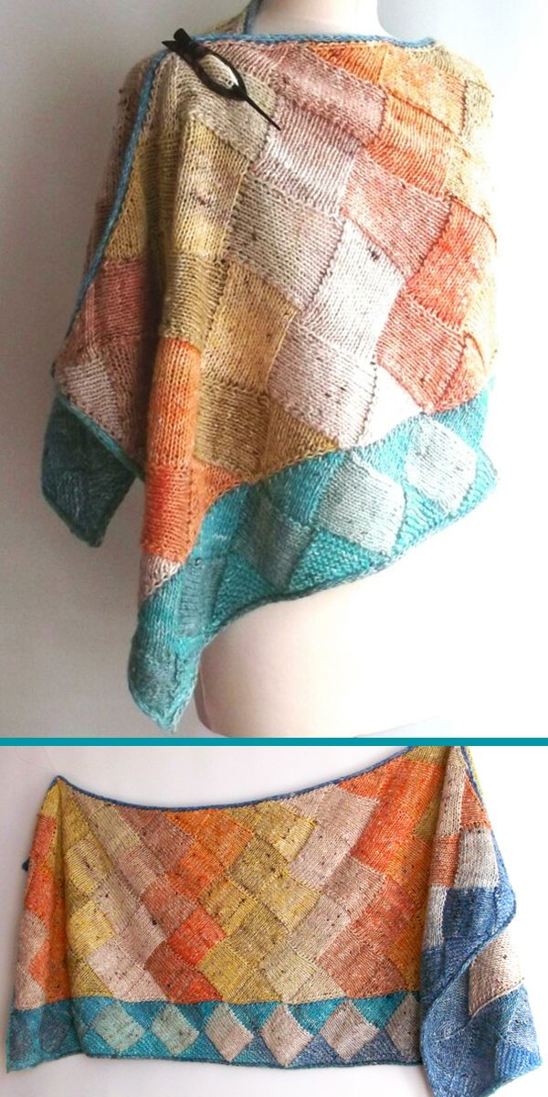 Noro entrelac wrap Knitting pattern by Brian Smith Designs