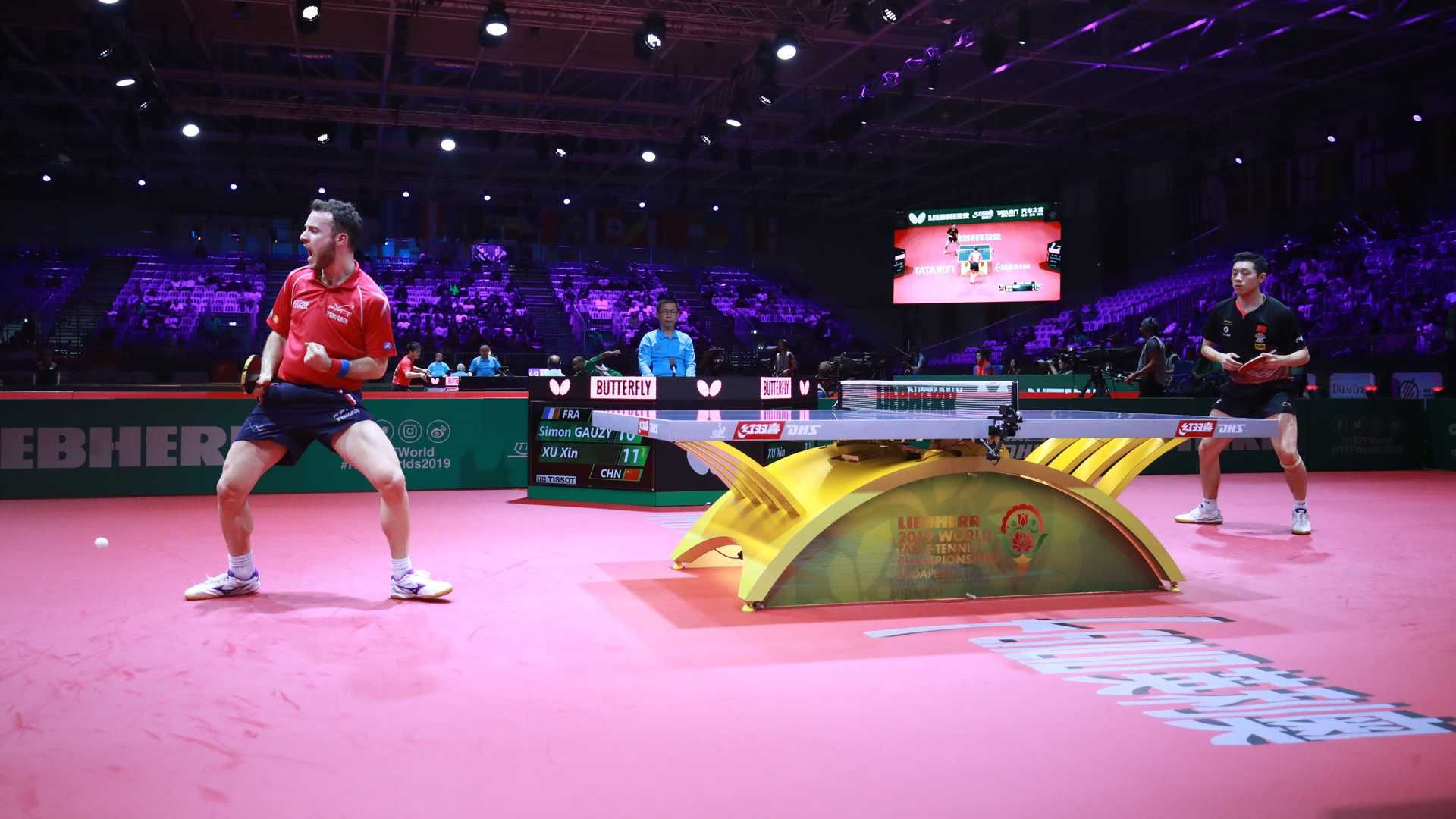 April 25 2019 Frenchman Simon Gauzy Causes A Huge Upset At The International Table Tennis Federation World Champion Sports Photograph Table Tennis Number Two