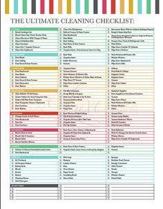 Das Ultimative Haus Reinigung Checkliste Von LuxePrintables Auf Etsy