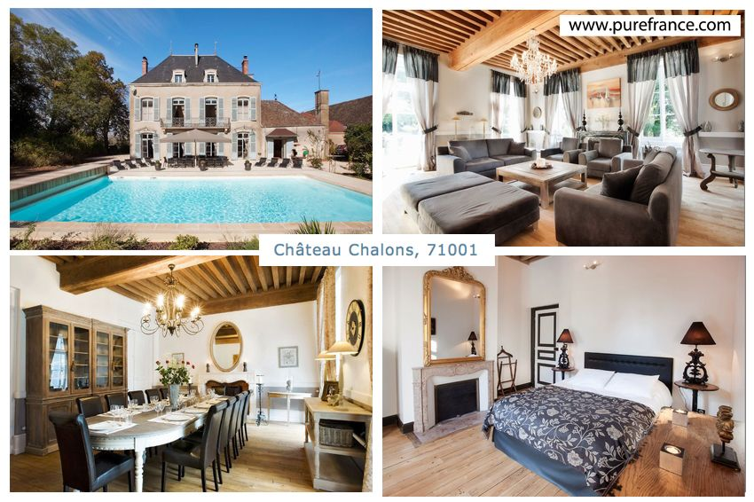 Chateau Chalons, #luxury Renovated Holiday Rental Castle In Burgundy,  Sleeps 14. Www