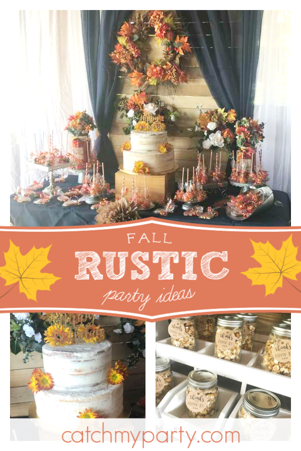Take A Look At This Beautiful Rustic Fall 1st Birthday Party