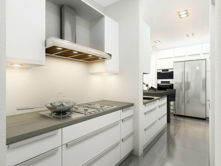 Cocinas blancas y grises - los 50 diseños más actuales - | Kitchen ...