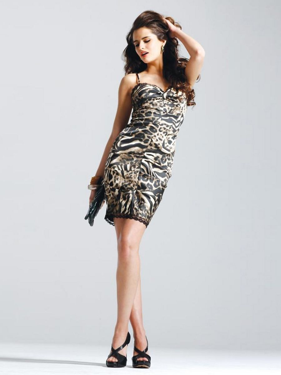 High Low Animal Print Cocktail Dress  7b093fe41
