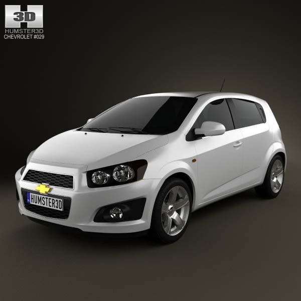 3d Model Of Chevrolet Aveo 5 Door 2011 Chevrolet Aveo Chevrolet