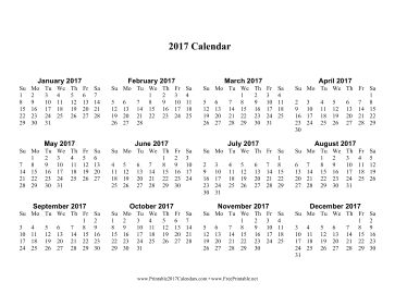 Calendar One Page With Large Print Calendar  Office Supplies