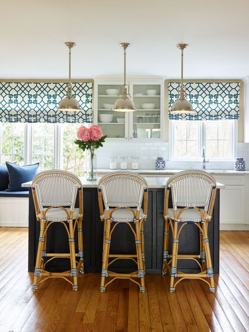 Excellent Blue White And Black Kitchen White Kitchen Renovation Ocoug Best Dining Table And Chair Ideas Images Ocougorg
