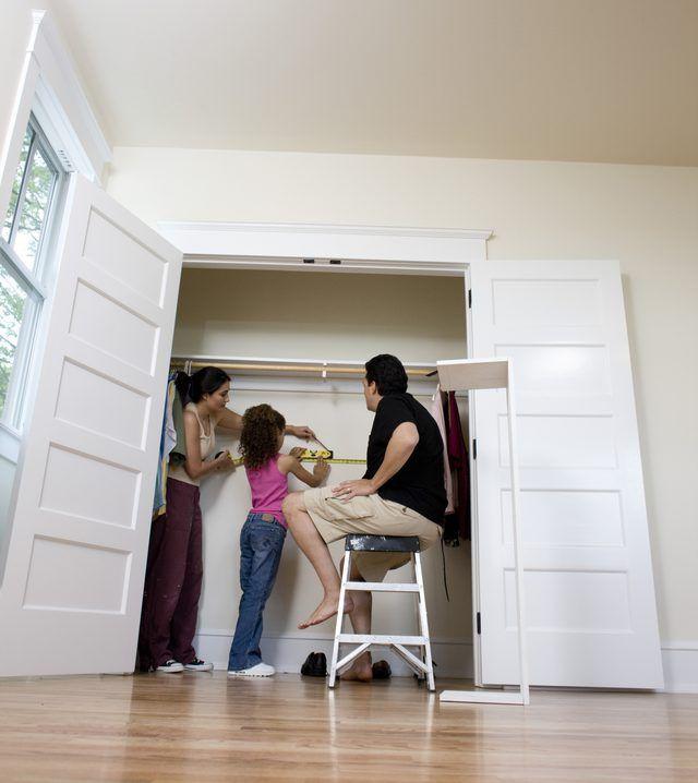 How To Change Sliding Closet Doors To Swing Doors Hunker Closet Door Makeover French Closet Doors Sliding Closet Doors
