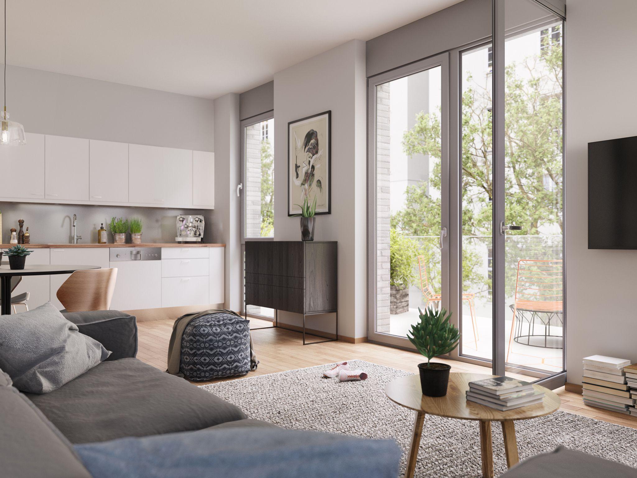 bodentiefe fenster l sen die grenze zwischen au en und innenbereich jede wohnung verf gt ber. Black Bedroom Furniture Sets. Home Design Ideas