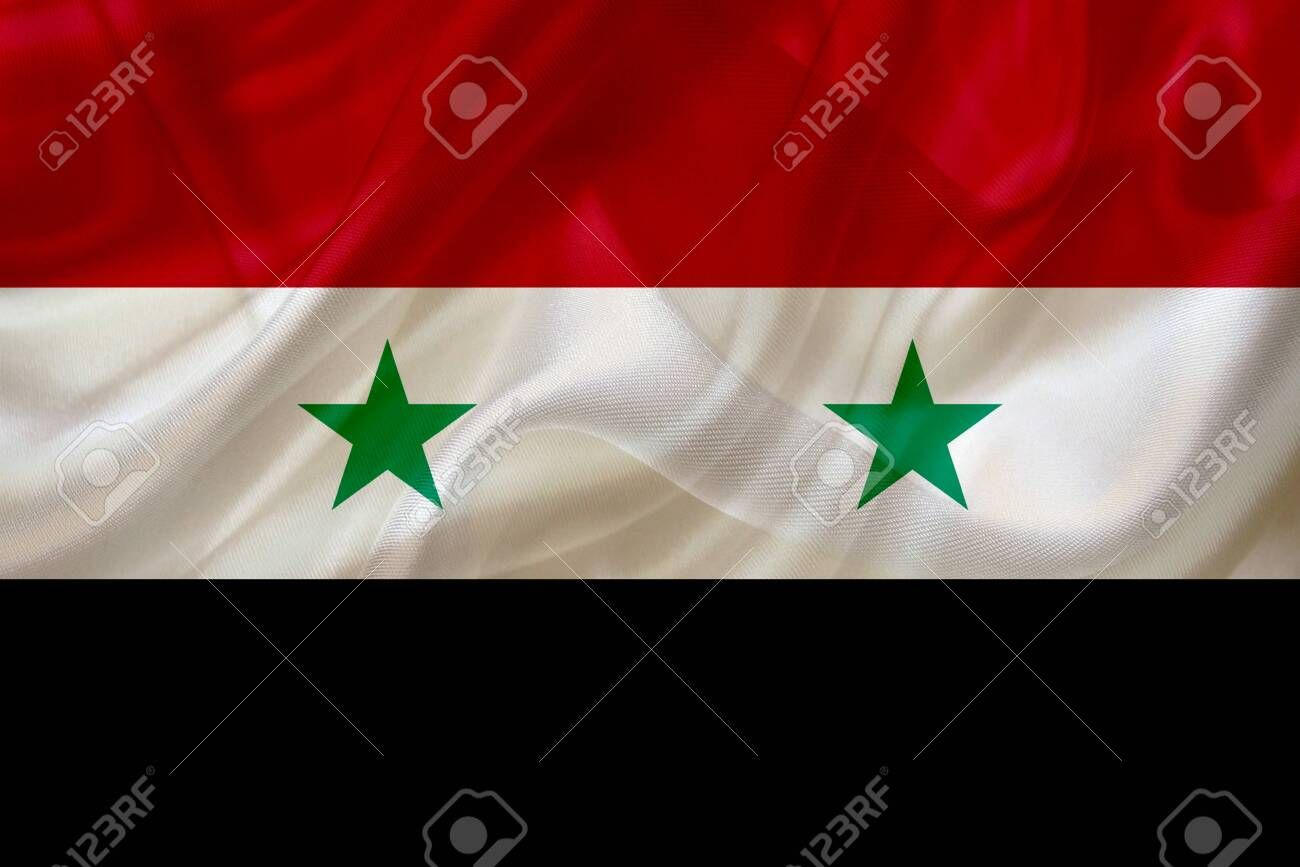 Syria Country Flag Symbol On Silk Or Silky Waving Texture Smooth Fabric Or Material Aff Symbol Si Graphic Design Logo Modern Graphic Design Logo Design