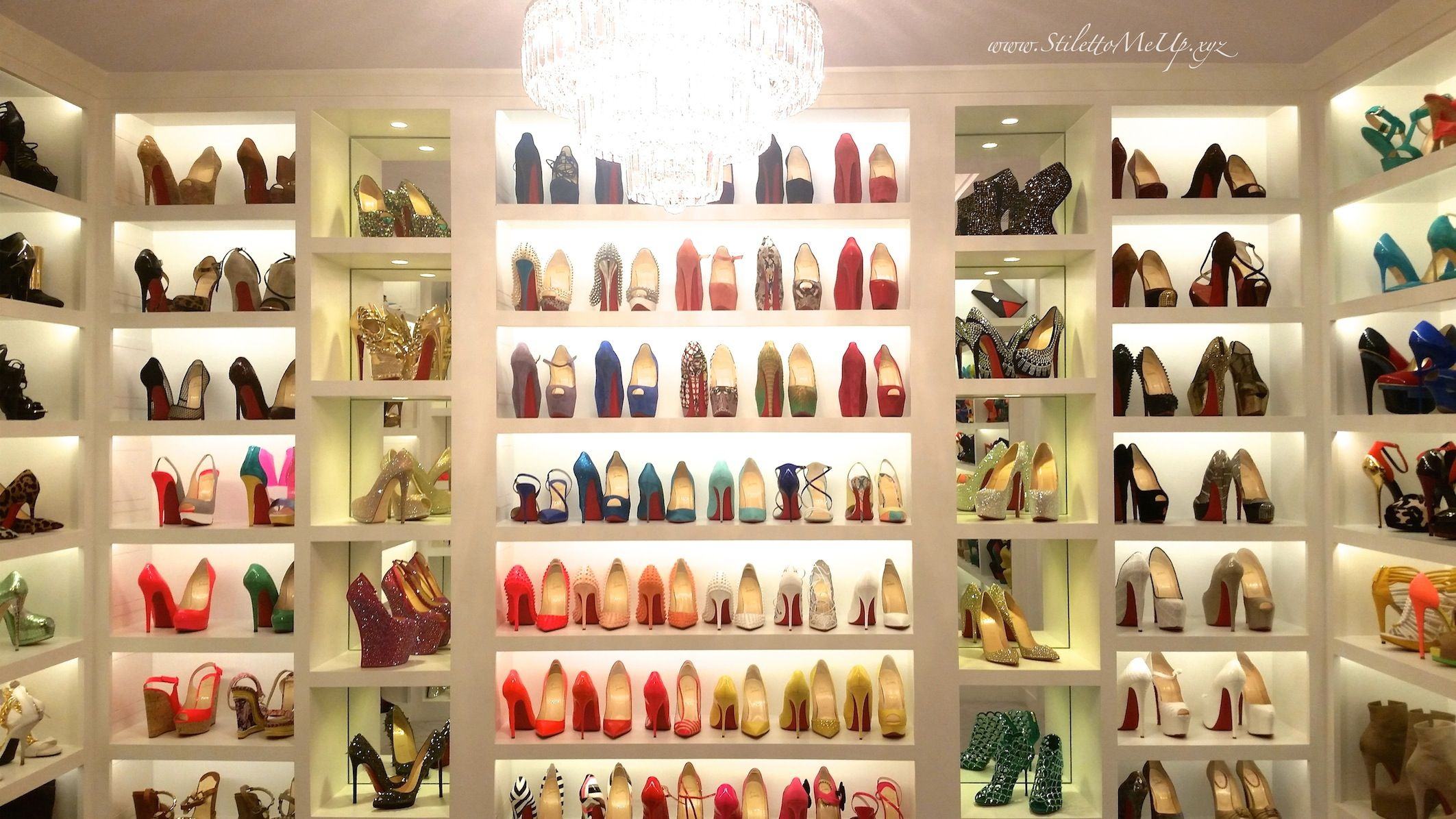 Charmant Image Result For Wall Of Louboutin Shoes