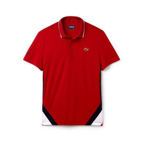 Men s SPORT Contrast Band Technical Piqué Tennis Polo en 2019  b55417a0ddbfe