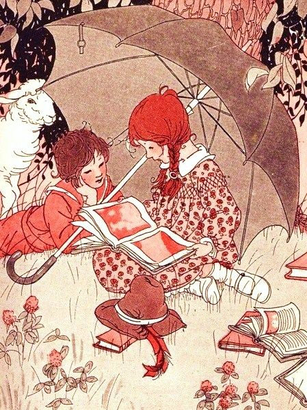 Unknown artist to me, #girlsreading