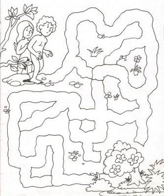 Dibujos De La Biblia Adan Y Eva 001 Dibujos Y Juegos Para