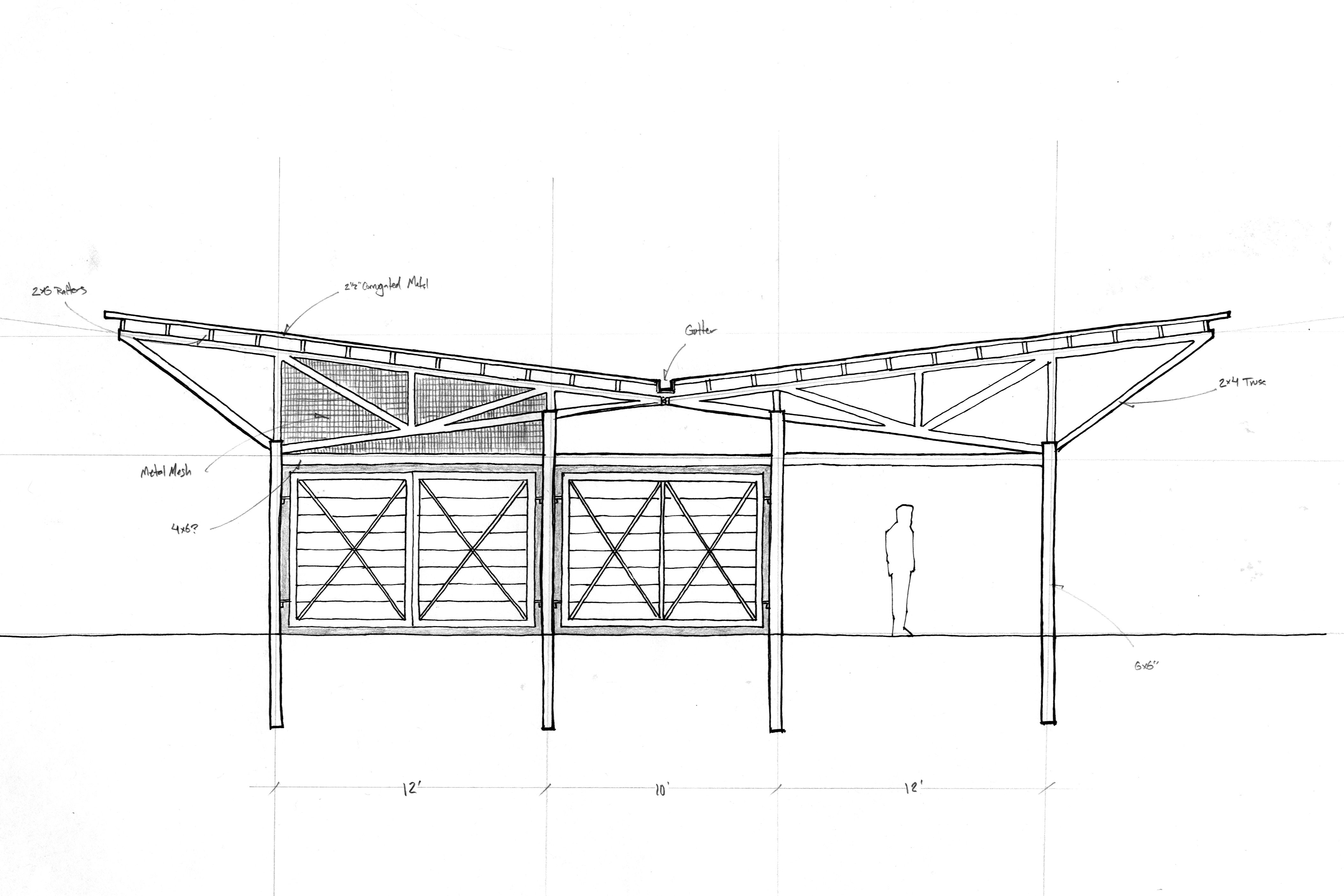 Related image | ង | Butterfly roof, Roof trusses, Roof